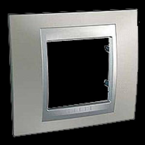 Рамка на 1 пост. Цвет Никель-алюминий. Schneider electric Unica Top. MGU66.002.039