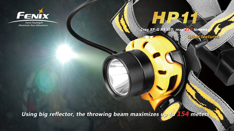 Фонарь налобный Fenix HP11 (Cree R5, 277 лм, 4хАА) *Новинка*