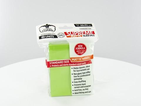 Ultimate Guard - Светло-зеленые матовые протекторы 80 штук
