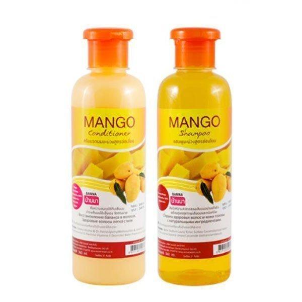 Набор шампунь+кондиционер Banna с натуральным маслом Манго 360+360 мл