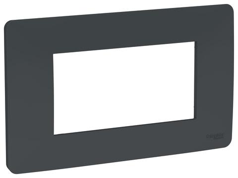 Рамка 4-модульная, Цвет Антрацит. Schneider Electric. Unica Modular. NU210454