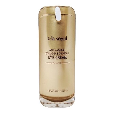 Крем для кожи вокруг глаз антивозрастной с коллагеном и частицами 24К золота La Soyul Premium 30мл