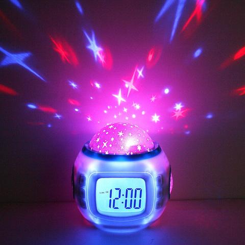 Часы-светильник «Music And Starry Sky Calendar»