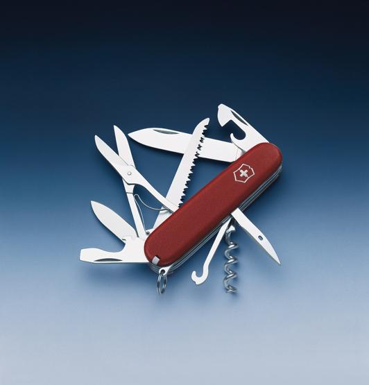 Нож Victorinox EcoLine, 91 мм, 15 функций, красный матовый