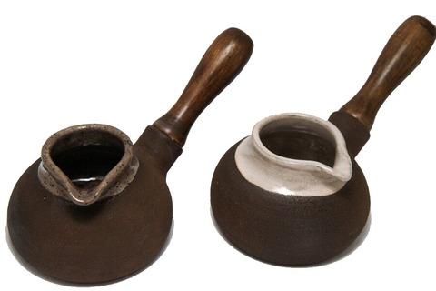 Глиняная турка с глазурью 200мл
