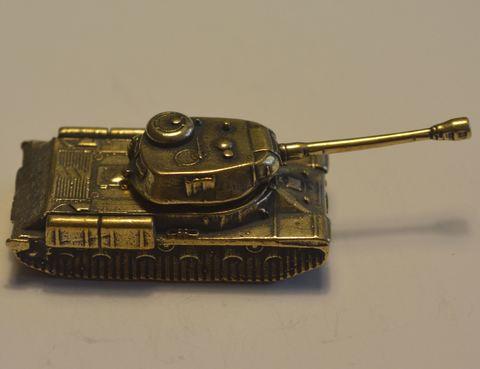 Миниатюра танк ИС-2 из бронзы C-076