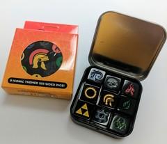 Legion Supplies - Iconic Assortment 9 шестигранных кубиков в железной коробочке