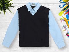 OP293Р-2 рубашка для мальчиков, голубая