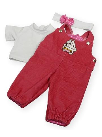 Полукомбинезон из вельвета - Цикламеновый. Одежда для кукол, пупсов и мягких игрушек.