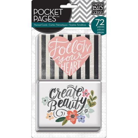 Набор карточек для Project life - Me & My Big Ideas Pocket Pages Themed Cards - Fresh Floral 72 шт