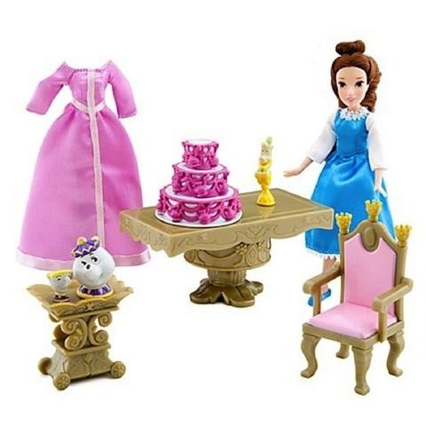 Дисней Красавица и Чудовище набор с мини куклой Белль 13 см