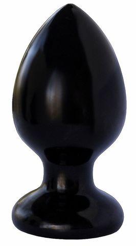 Черная анальная пробка MAGNUM 8 - 11,5 см.