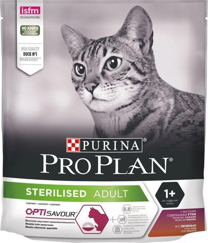 Pro Plan сухой корм для стерилизованных кошек (утка, печень) 400 г