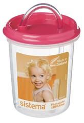 Детская чашка с трубочкой Sistema, розовая 250 мл