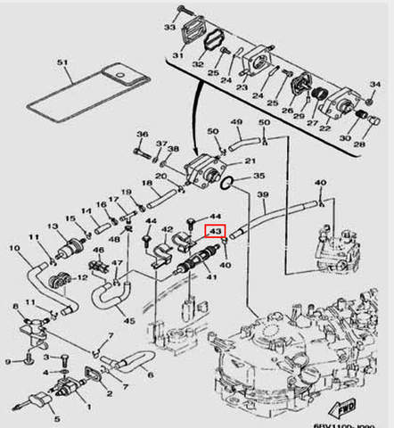 Зажим для лодочного мотора F5 Sea-PRO(9-43)