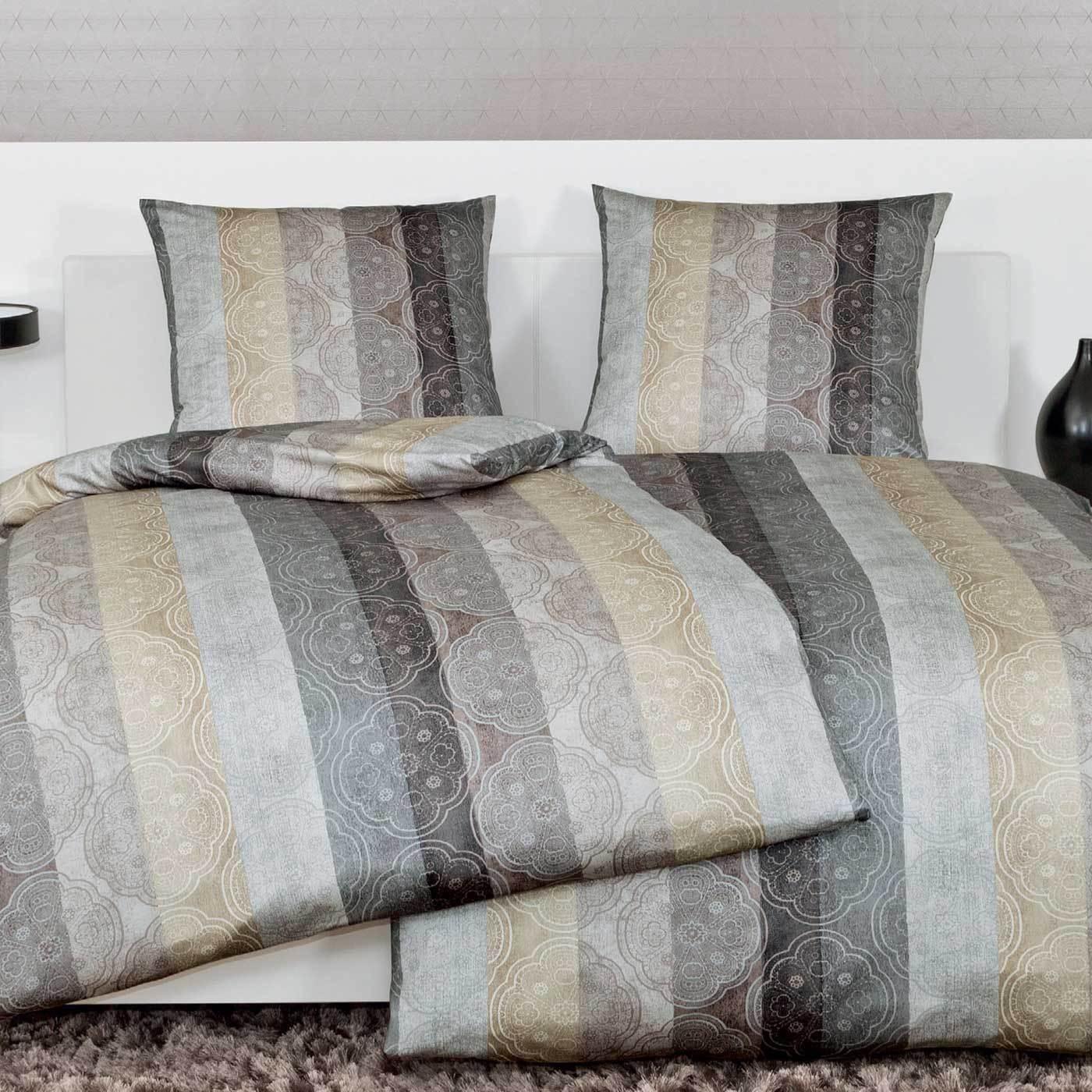 Постельное белье 2 спальное евро Janine Messina 4720 taupe-kitt-silber