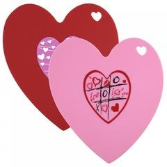 Подставка силиконовая термостойкая в форме сердца 2цвета