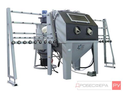 Пескоструйная камера для стекла КСО-110 ИСФВРМ с фильтром вентилятором и рекуперацией