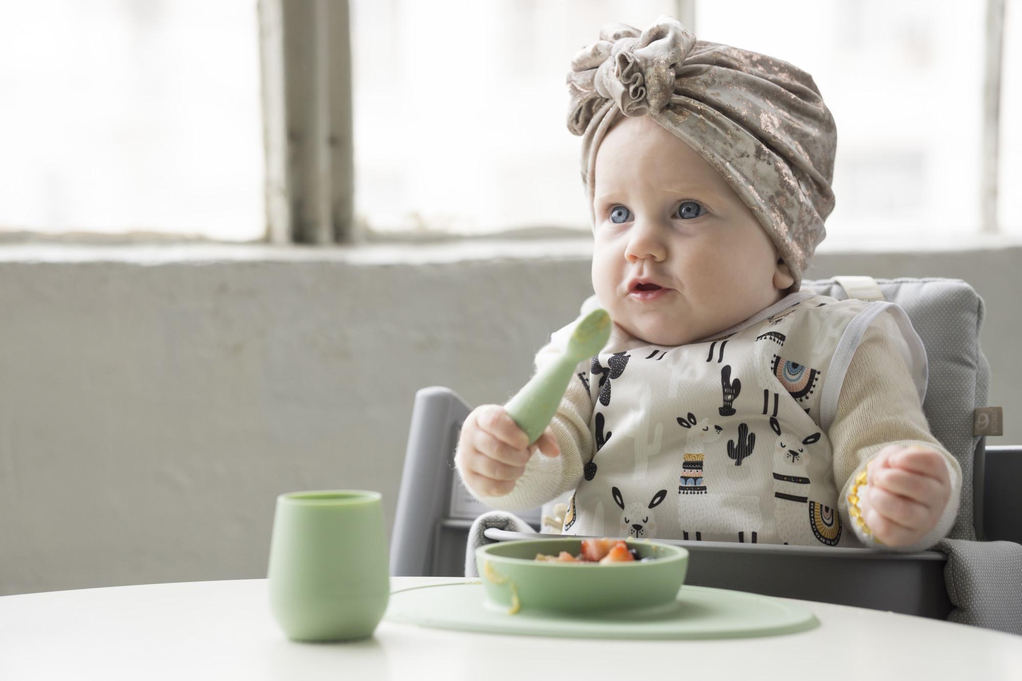 Набор из 4-х предметов цвет нежно-розовый EZPZ First Food Set
