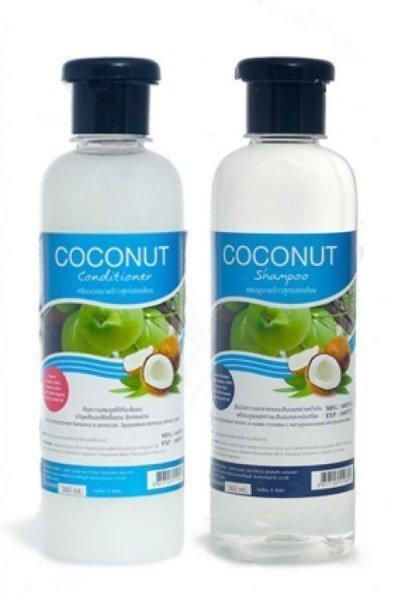 Кокосовый набор шампунь+кондиционер Banna Coconut Oil Shampoo and Conditioner 360+360 мл