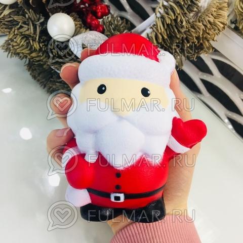 Cквиши Дед Мороз Санта с посланием игрушка антистресс