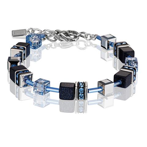 Браслет Coeur de Lion 4015/30-0721 цвет чёрный, голубой