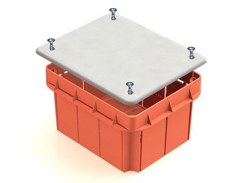 Распаячная коробка СП 172х96х45мм, крышка, пл. лапки, IP20, инд. штрихкод, TDM
