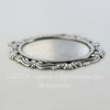 """Сеттинг - основа - подвеска """"Капитель"""" для камеи или кабошона 40х30 мм (оксид серебра)"""