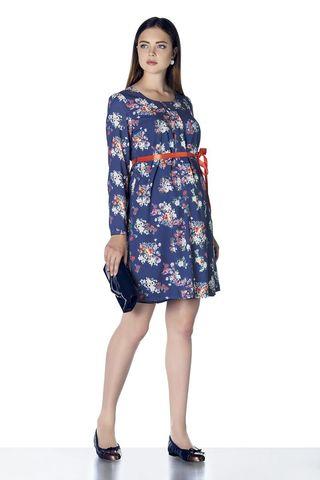 Платье 07918 синий