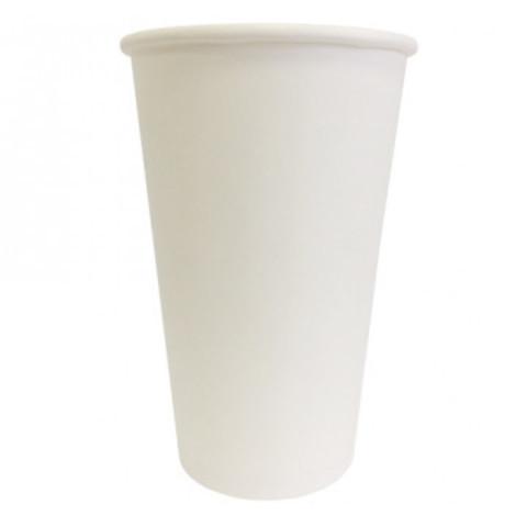 Стакан одноразовый бумажный белый 400мл Эконом 32 шт/уп 11128