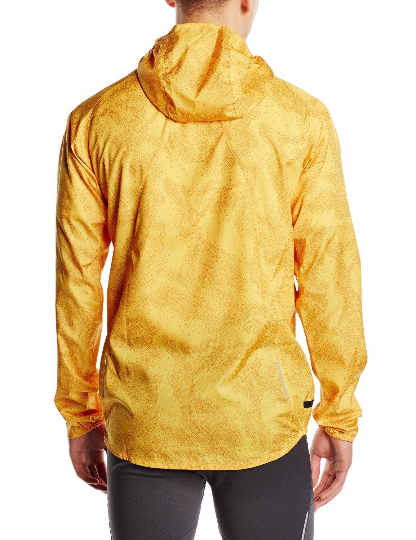 Мужская ветровка для бега асикс FujiTrail Pack Jacket (125146 0127) желтая