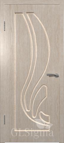 Дверь GreenLine Sigma-8, цвет беленый дуб, глухая