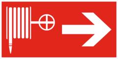 F31 Знак пожарной безопасности «Пожарный кран направо»