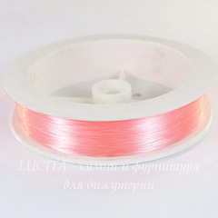 Леска для бисера и бусин, 0,3 мм, цвет - розовый, примерно 100 м