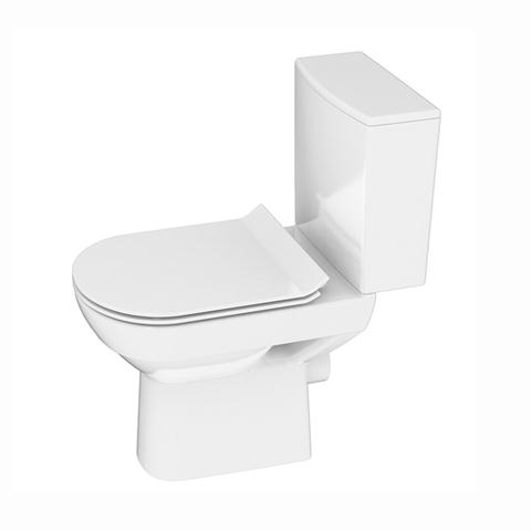 Безободковый унитаз напольный  Cersanit CITY NEW Clean On 011 S-KO-CIT011-3/5-COn-S-DL-w сиденье дюрапласт