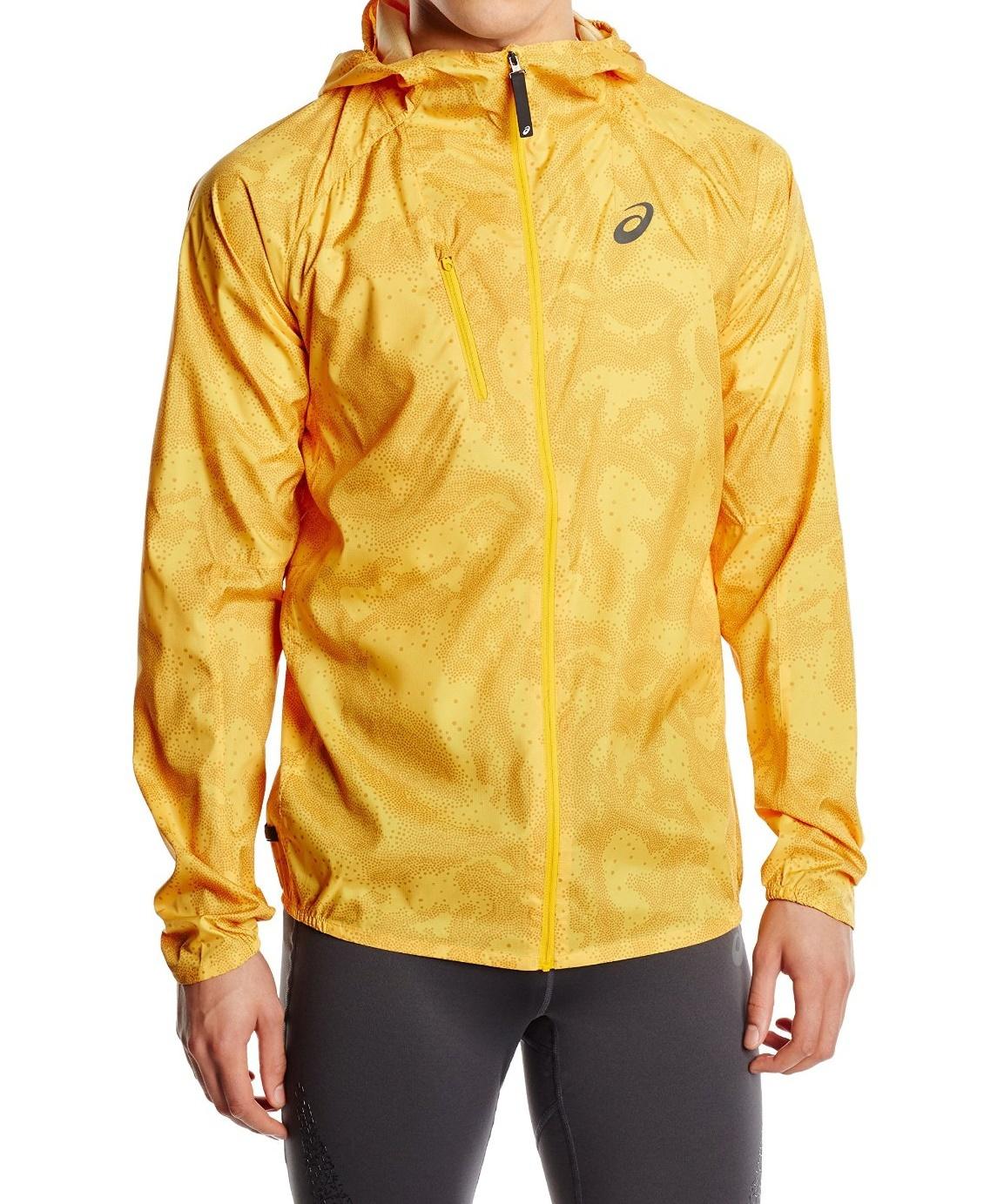 Мужская ветровка для бега Asics FujiTrail Pack Jacket (125146 0127) желтая фото
