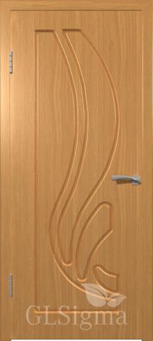 Дверь GreenLine Sigma-8, цвет миланский орех, глухая