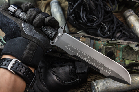Нож выживания Survivalist X AUS-8 Gray Titanium