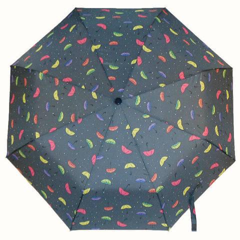 Зонт тёмно-серого цвета автомат