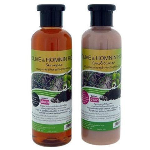Набор шампунь+кондиционер Banna Olive Oil&Homnin Rice для тонких волос 360+360 мл
