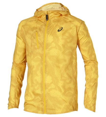 Ветровка для бега Asics FujiTrail Pack Jacket мужская желтая