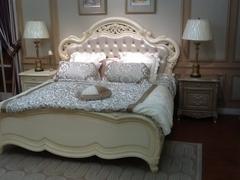 Кровать Милано (8802-С 200x180 без решетки MK-1829-IV) Слоновая кость