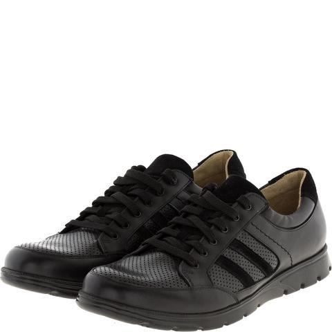 589385 полуботинки мужские черные кожа. КупиРазмер — обувь больших размеров марки Делфино