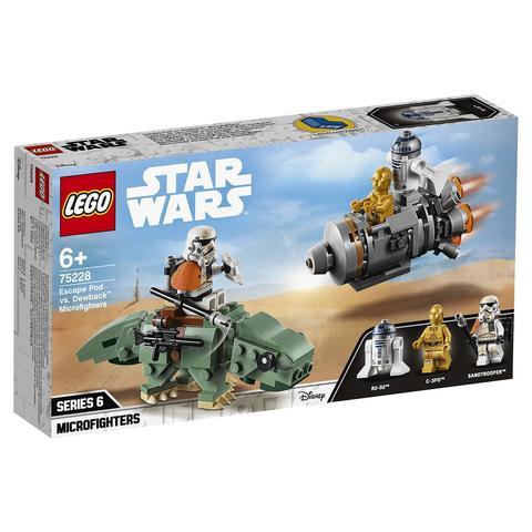 LEGO Star Wars: Микрофайтеры: Спасательная капсула и дьюбэк 75228 — Escape Pod vs. Dewback Microfighters — Лего Звездные войны Стар Ворз