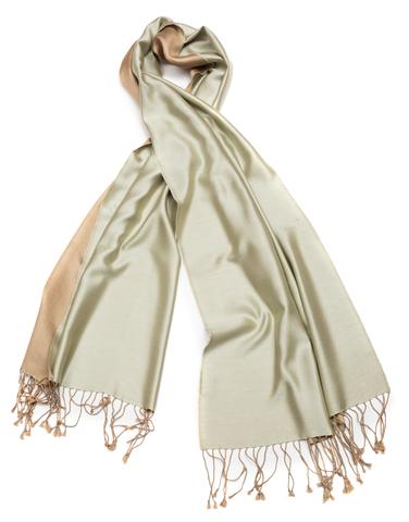 Плед-шарф 50х180 AM Paris Paraty зеленый-бежевый