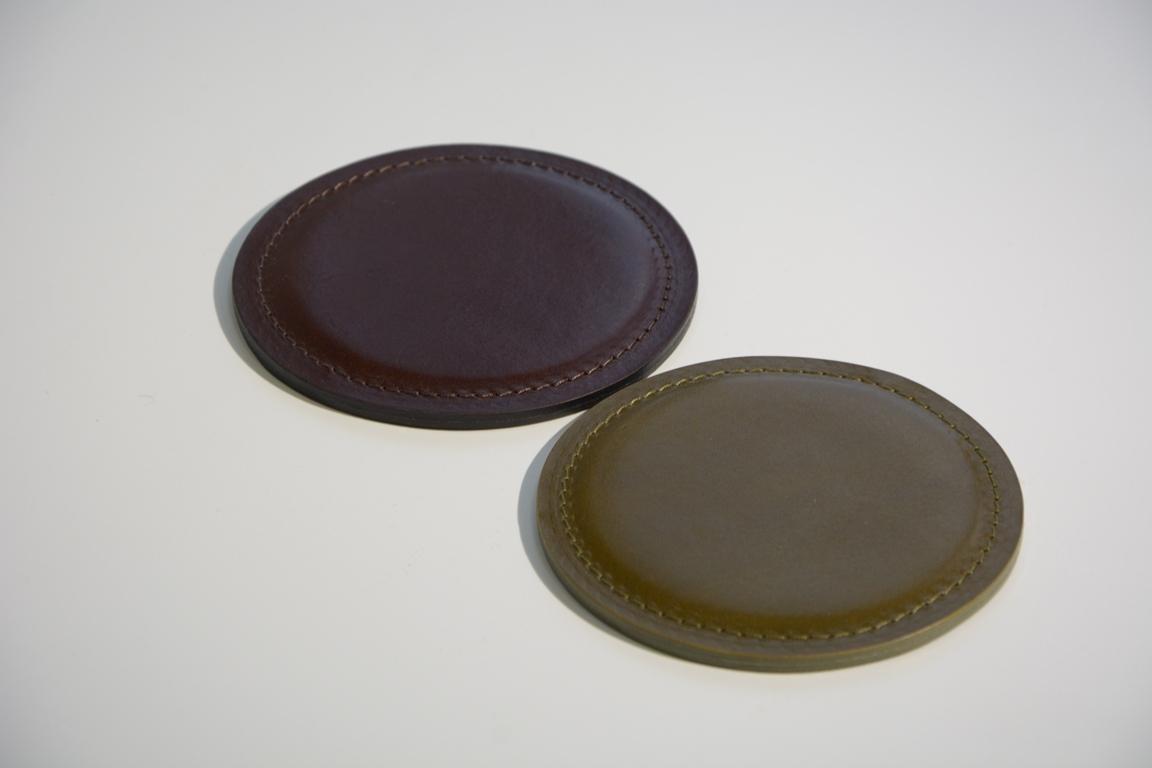 Костер из кожи - подставка для стаканов и кружек.