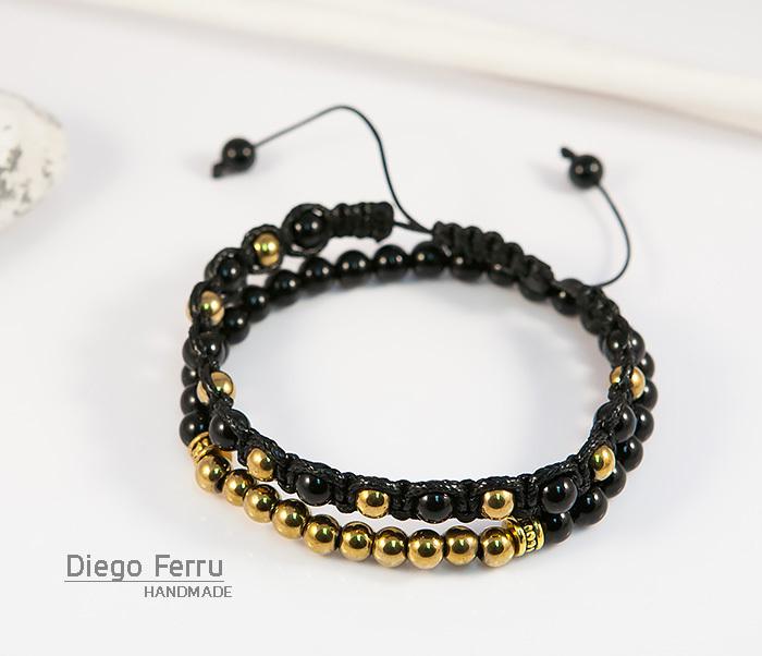 BS698 Комплект мужских браслетов из натурального камня, «Diego Ferru» фото 03