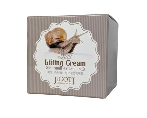 Подтягивающий крем для лица с экстрактом слизи улитки Jigott