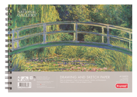 Альбом для зарисовок Bruynzeel National Gallery, 160гр/м.кв, А4, 40 листов на спирали