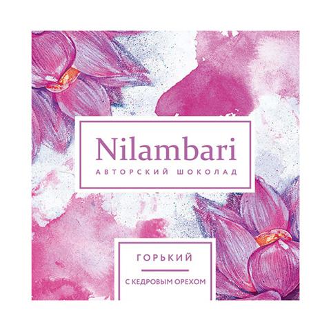 Nilambari шоколад горький с кедровым орехом 65 г